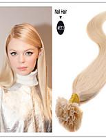 100% vierge droite la kératine des ongles cheveux fusion de la capsule / u façonner extension de cheveux 1g / s 100g / pc 1pc / lot