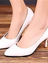 Women's Shoes  Stiletto Heel Pointed Toe Pumps/Heels Dress Black/White/Beige