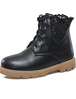 Women's Shoes Lace Platform Fashion Boots/Round Toe Boots Dress Black/Pink/Red/White
