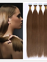 18-28Inch Glue Skin Weft/Tape Hair Virgin Keratin Fusion Hair Extensions No Tangle 2.5G/Strand 100G/PC 1PC/LOT In Stock