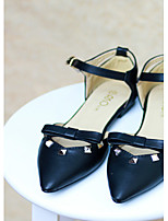 Women's Shoes Chunky Heel Pointed Toe Pumps/Heels Casual Black/White