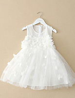 Girl's Summer Micro-elastic Medium Sleeveless Dress (Polyester)