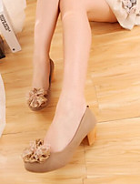 Women's Shoes Flat Heel Round Toe/Closed Toe Loafers Outdoor/Casual Pink/Beige