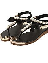 Women's Shoes Flat Heel Open Toe Sandals Dress/Casual Black/Blue/White/Beige