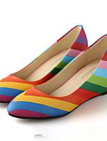 Women's Shoes Leatherette Flat Heel Heels Pumps/Heels Outdoor Multi-color