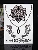 4PCS Tatouage Black Temporary Tattoo Sticker Taty Body Tatoo Metal Tatoos Fake Tattoo Tatto Lace Wedding Tattoos