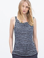 Women's Gray Vest , Casual Sleeveless