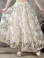 Women's Print Fluffy Tutu Fashion Maxi Skirt