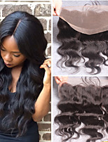 10-22 Inch Brazilian Virgin Hair Closure Middle Part Lace Closure Body Wave  13