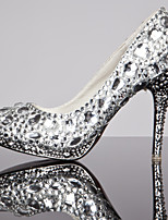 Women's Shoes Stiletto Heel Heels/Closed Toe Pumps/Heels Wedding/Party & Evening/Dress Silver