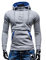 Men's Casual Pure Long Sleeve Activewear Sets (Cotton)
