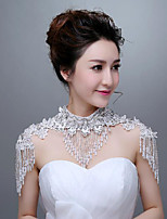 Ivory Lace Wedding Wraps with Pearls with Crystal stones with Rhinestones