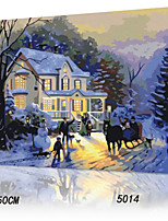 DIY Digital Oil Painting With Solid Wooden Frame Family Fun Painting All By Myself     Romantic Winter5014