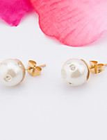 The Bride's Stainless Steel Imitation Pearl Earring