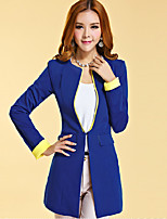 Women's Blue/Red/White/Black Blazer , Casual/Work Long Sleeve