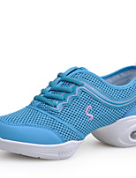 Non Customizable Women's Dance Shoes Leather Leather Dance Sneakers Sneakers Cuban Heel Practice Black