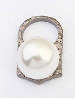 Women's Europe And The United States Punk Style Pearl/Alloy Ring