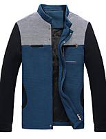 SENLEIS®Men's Casual Plus Sizes Pure Long Sleeve Regular Jacket (Cotton Blend)