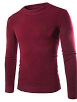 Men's Casual Pure Long Sleeve Regular Pullover