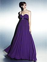 Formal Evening Dress - Grape/As Picture A-line Sweetheart Floor-length Georgette