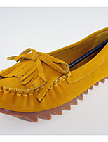 Women's Shoes  Flat Heel Ballerina/Round Toe Flats Casual Blue/Yellow/Pink/Burgundy