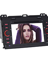 Quad-Core Android4.4 2 Din 7 inch 1024 x 600 Car DVD GPS Navi for Toyota Prado 2008-2011 with Built-in WIFI/Radio/BT