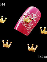 10pcs/lot 4*6mm Gold Crown Type Of Alloy Nail Art Decorations Nail Art Supplies Nail Studs Wholesales