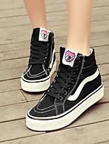 Zapatos de mujer - Tacón Plano - Plataforma / Comfort / Punta Redonda - Sneakers a la Moda - Exterior / Casual - Tela -Negro / Azul /