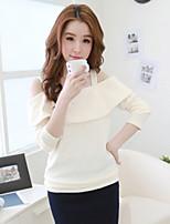Women's Vintage/Sexy/Beach/Casual/Cute/Party/Work   Long Sleeve Regular Shirt
