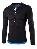 Men's Long Sleeve T-Shirt , Cotton Casual/Sport Pure