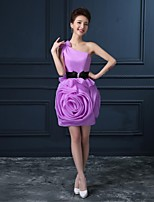 Homecoming Cocktail Party Dress A-line One Shoulder Short/Mini Organza Dress