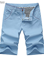 Casual shorts to cotton summer models men straight five pants slim pants breeches Korean tide