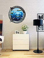 3D Wall Stickers Wall Decals Style Personality Underwater World Waterproof PVC Wall Stickers