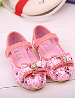 Girls' Shoes Outdoor/Dress/Casual Round Toe/Closed Toe Fabric Flats Pink/Beige