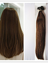 Nano Hair Extension Virgin Pre-bonded Keratin Capsule Fusion Hair No Tangle 1G/S 100G/PC 1Pc/Lot In Stock