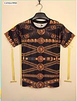 Summer Fashion Men's Short Sleeve 3D Print T-shirt Leisure Jacket Shirt Tops(M-XXL)