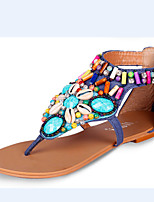 Women's Shoes  Flat Heel Mary Sandals Casual Black/Blue/Red/White