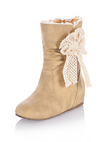 Women's Shoes Wedge Heel Fashion Boots/Round Toe Boots Office & Career/Dress/Casual Black/Yellow/Beige