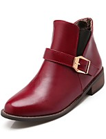 Women's Shoes  Low Heel Fashion Boots Boots Office & Career/Dress/Casual Black/Burgundy
