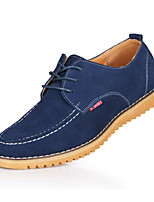 Men's Shoes Outdoor Suede Oxfords Black/Blue/Yellow/Gray