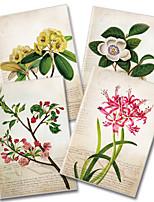 x - libro a5-96 las heladas notebooks de alto grado de revestimiento de caucho (plantas pintados a mano) (4 libros por paquete)