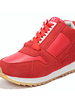 Zapatos de mujer - Tacón Plano - Comfort / Punta Redonda - Sneakers a la Moda - Exterior / Casual - Ante Sintético - Negro / Rojo / Gris