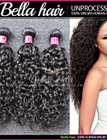 Brazilian Water Wave Wet and Wavy Human Hair Bundles 3pcs/lot Remy Human Top Hair Extensions Bella Hair
