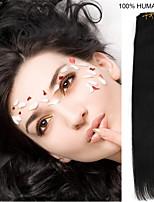 26inch 7pcs / set 120g Clip-in Haar remy Menschenhaarverlängerungen 5 Farben für Frauen Schönheit