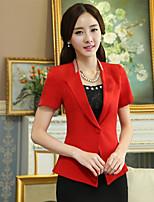 xiw&F Women's Casual/Work/Plus Sizes Fashion Slim Solid Short Sleeve Blazer