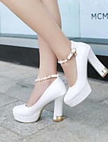 Women's Shoes Fleece / Leatherette Chunky Heel Heels / Platform Heels Office & Career / Party & Evening / Dress