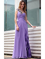 Formal Evening Dress - Lavender Sheath/Column One Shoulder Floor-length Chiffon