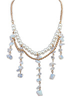 European Style Fashion Wild Gravel Imitation Pearl Choker Necklace