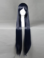 There Is No Yellow Boring World かじょう あやめ Ink Blue 100cm Cosplay Wigs