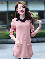 Women's Casual/Work Stretchy Medium Long Sleeve Pullover (Knitwear) SF7B21
